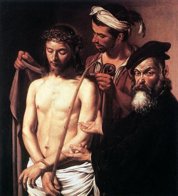 Ecce Homo, Caravaggio, 1605: This is an example of a Baroque painting.