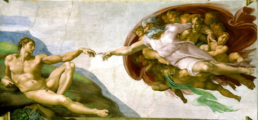 Michelangelo,The Creation of Adam,The Sistine Chapel, 1508-1512: