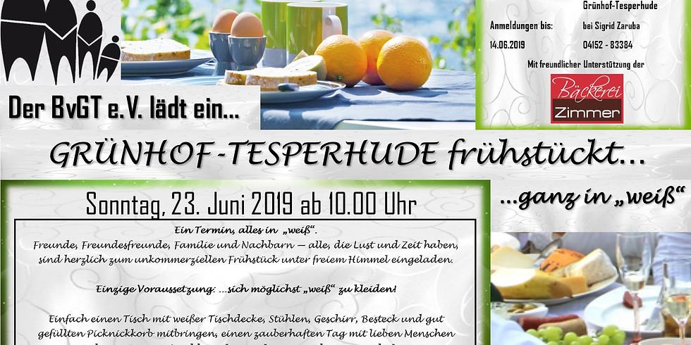 Grünhof-Tesperhude frühstückt......
