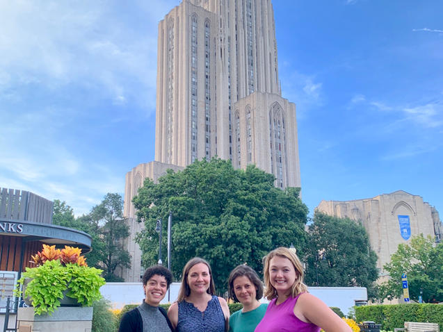 August 2019 - Welcoming New Lab Members, Pitt's Cathedral of Learning