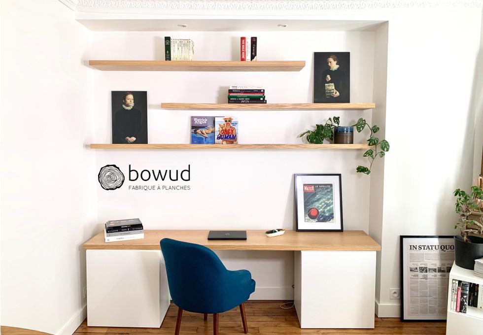Bureau et étagères murales - bowud.com