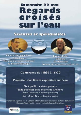 """Regards croisés sur l'eau """"Sciences et spiritualité"""" organisé par le collectif Effica-"""
