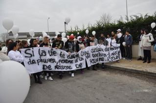 """Article du Bien Public : """"Une marche blanche silencieuse et émouvante en la mémoire d'Ayoub&quo"""