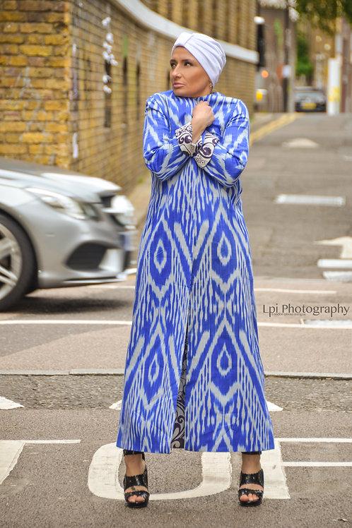 Two-sided full length royal blue jacket