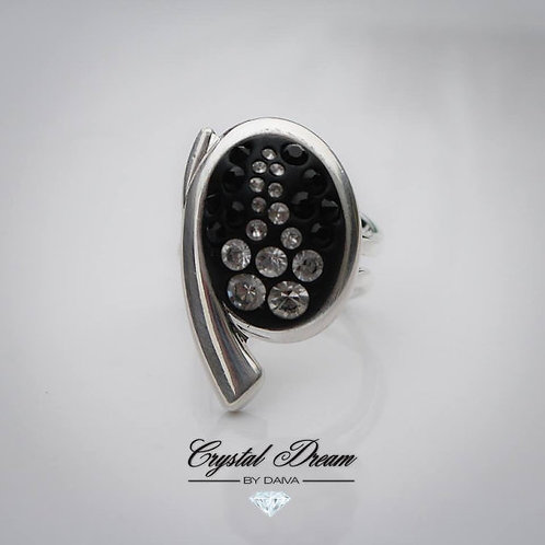 Silver Cocktail Ladies Ring