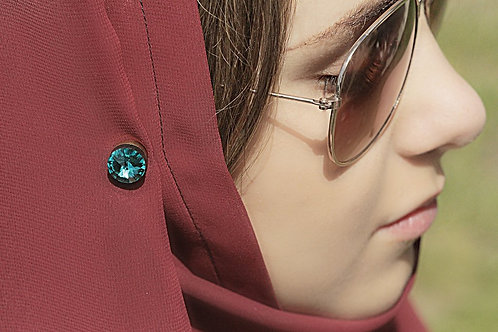 Solid Turquoise Magnetic Fabpin®