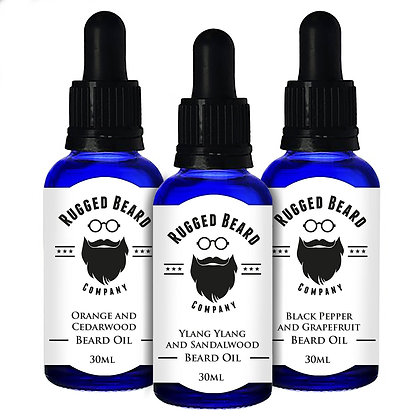 Premium Beard Oil -  Soften, Tame, Stop Itching - The Rugged Beard Company