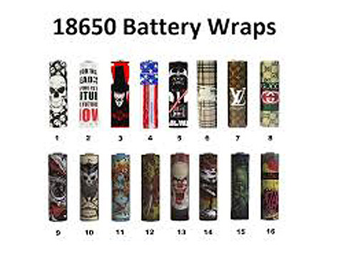 18650 Battery Wraps (Shrink Wraps)