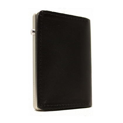 Craft Wallet - Premium Black/Silver Leather Quick Access Wallet