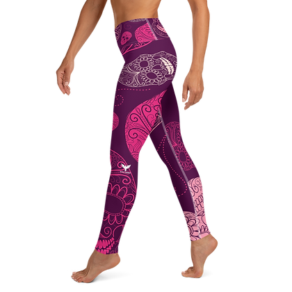 Active Comfort Crossover Skull Candy Leggings - Find Your Coast Supply Co.