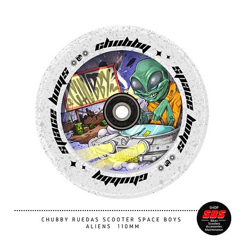 CHUBBY RUEDAS SCOOTER SPACE BOYS ALIEN