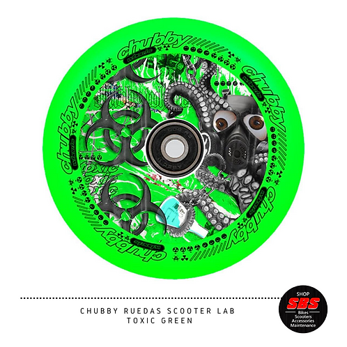 CHUBBY RUEDAS SCOOTER LAB TOXIC GREEN
