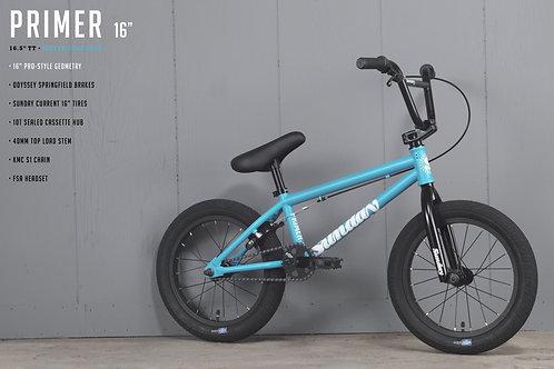 "SUNDAY BMX PRIMER 16"" AZUL 2021"