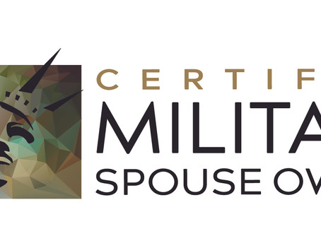 It's Official, We are Military Spouse Owned
