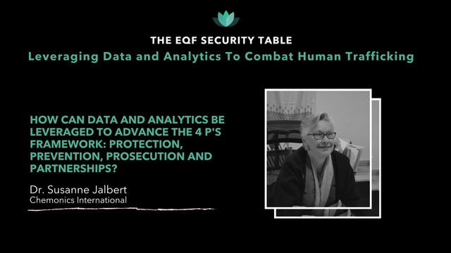 Leveraging Data and Analytics to Advance the 4 P's Framework: Dr. Susanne Jalbert