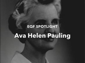 Spotlight: Ava Helen Pauling