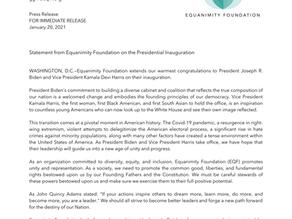 EQF's Statement on President Biden's Inauguration
