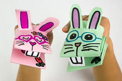 Cute Paper Bunny Puppet Directions (1 of