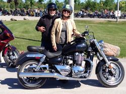 chris  kristine ellis Triumph Motorcycles@the2014RFS