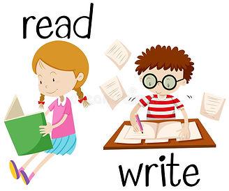 girl-reading-boy-writing-illustration-65