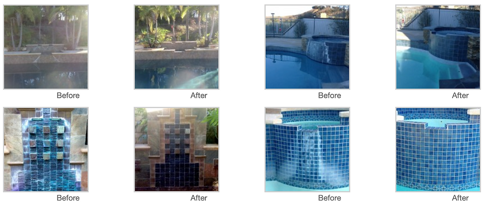 Pool Tile Cleaning Photos