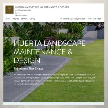 Huerta Landscape Website