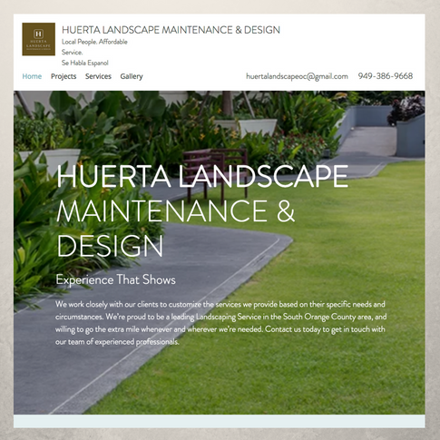 Huerta Landscape Website