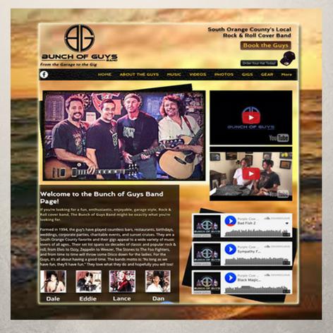 Bunch of Guys Band Website