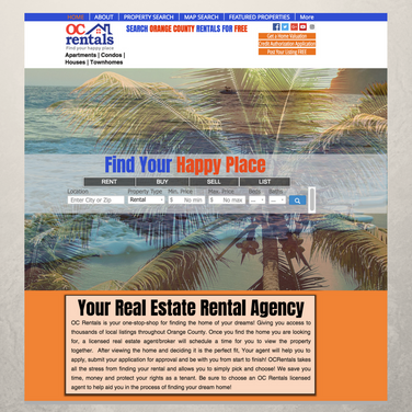 OC Rentals Website