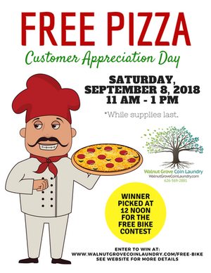 Come to Our Pizza Party on September 8, 2018 from 11am-1pm