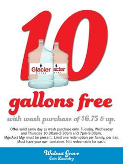 free water at laundrymat