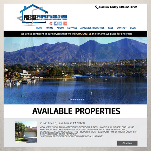 Precise Property Management Website