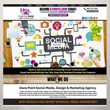 Purple Cow Social Website