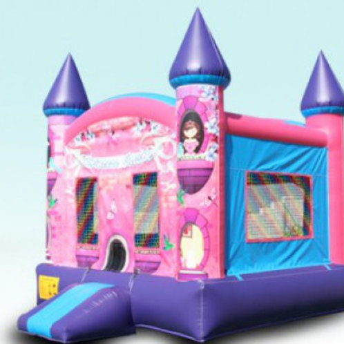 Princess Castle with Basketball Hoop
