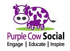 Purple Cow Social Media Logo