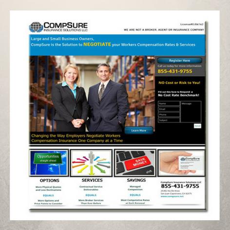 CompSure Insurance Services Landing Page