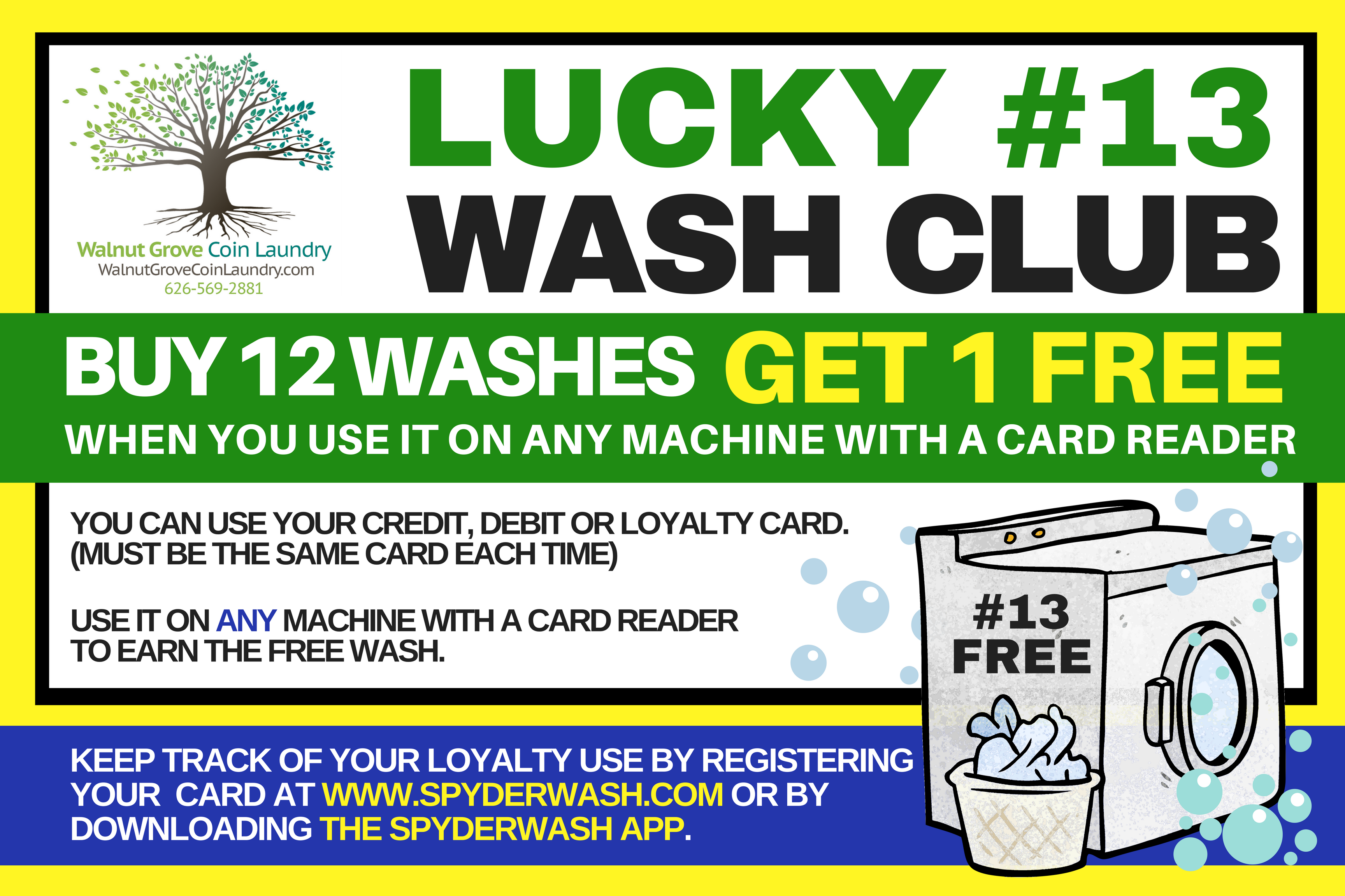 Walnut Grove Coin Laundry Free Wash