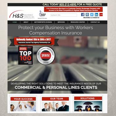 H&S Insurance Services Website