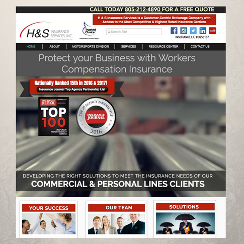 H&S Insurance Services Website