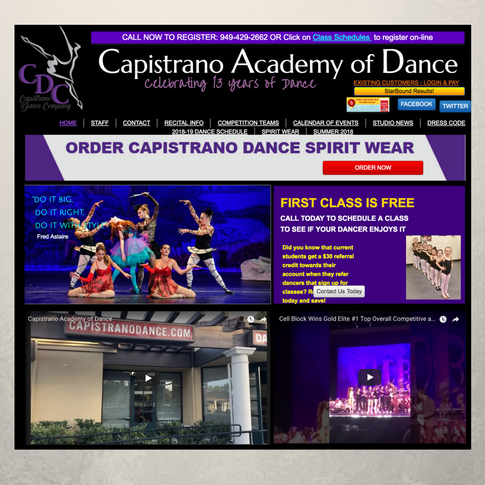 Capistrano Academy of Dance Website