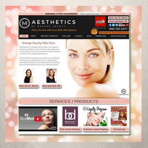 M Aesthetics Website