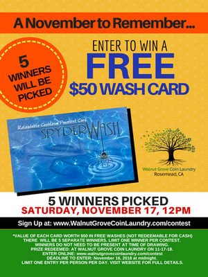 Enter to Win a $50 Wash Card