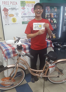 Walnut Grove Coin Laundry Bike Winner