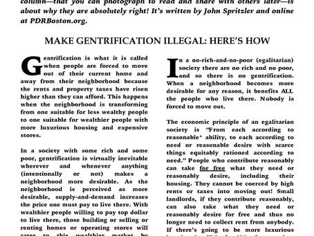 MAKE GENTRIFICATION ILLEGAL