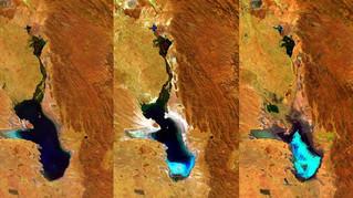 Tras secarse por el calentamiento global, el lago boliviano Poopó duplica su caudal