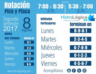 Rotación Pico y Placa 2017 - 2