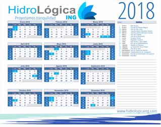 Descarga nuestro Calendario 2018