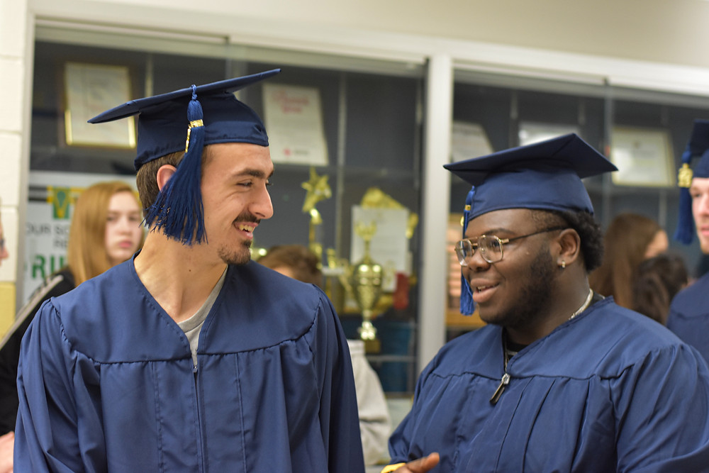 Chase High seniors walk the halls of Chase Middle