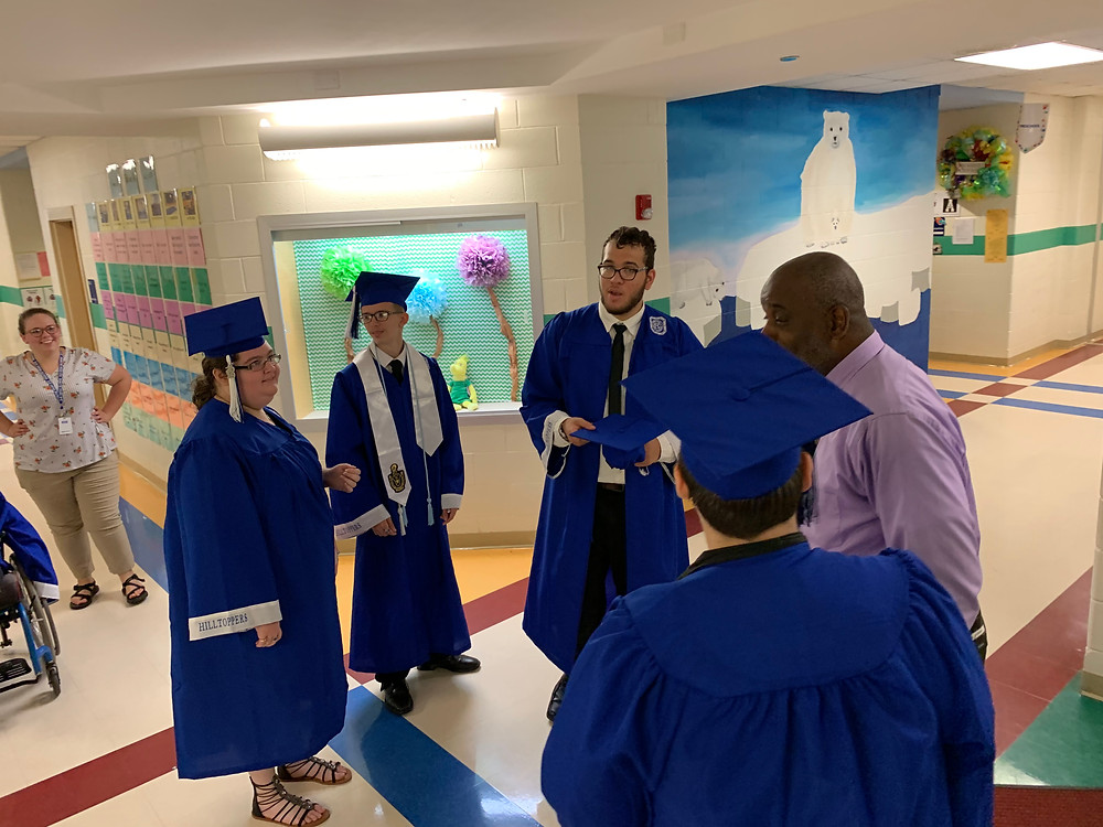 R-S Central seniors walk the halls at Spindale Elementary