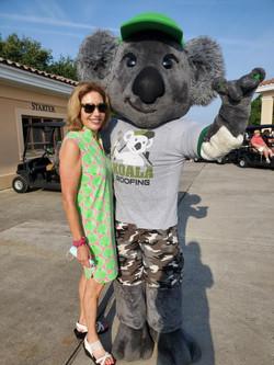 Nancy with mascot